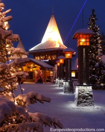 Santa Claus Village and Arctic Circle in Rovaniemi in Lapland