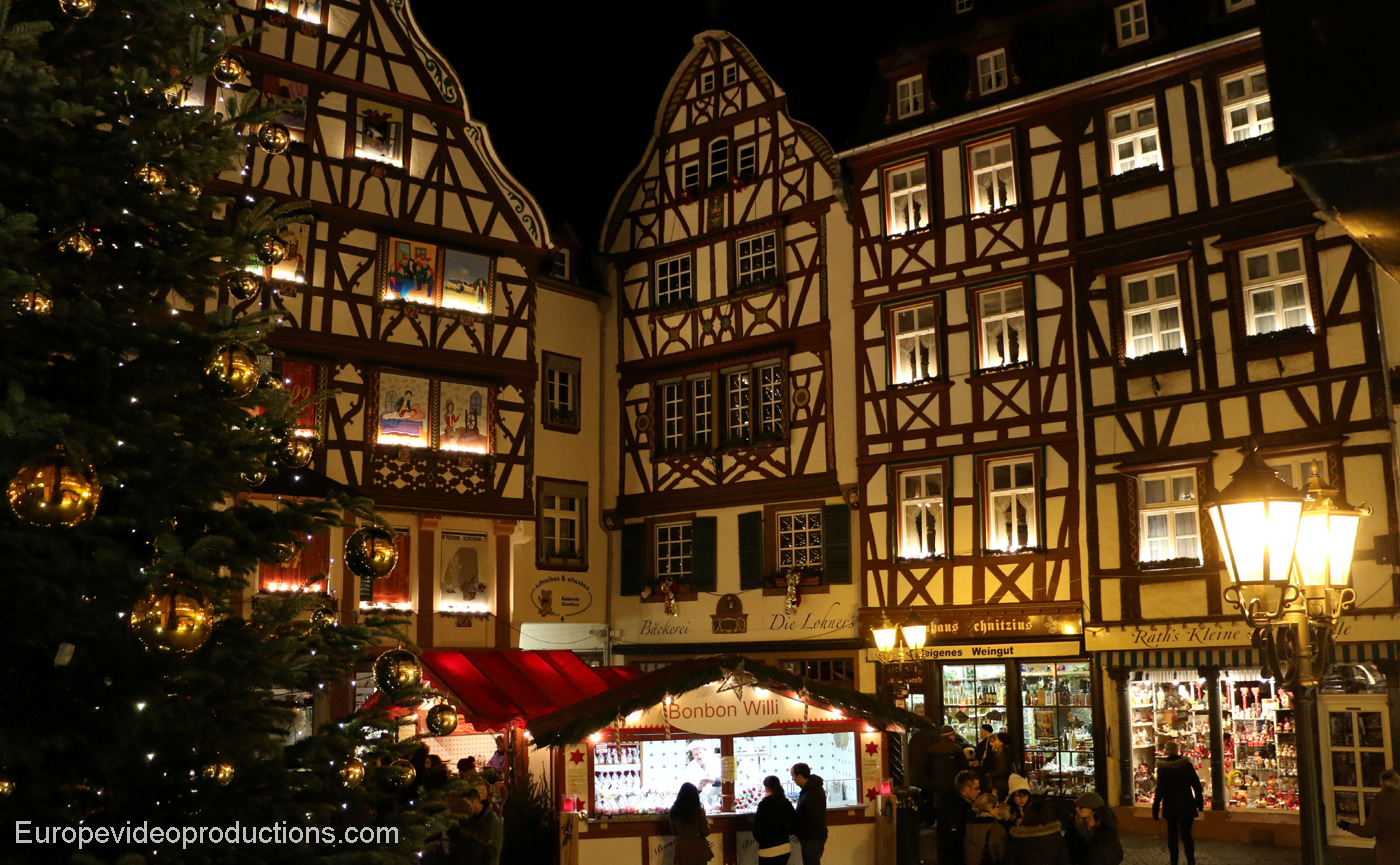 Bernkastel-Kues Christmas market in Moselle Valley in Germany