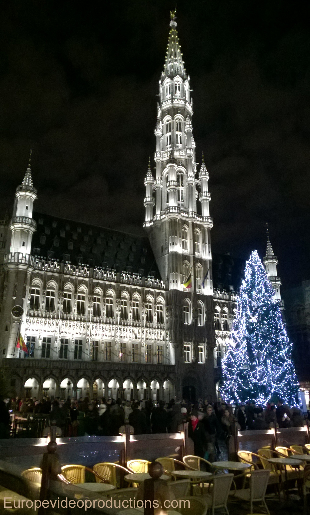 The Grand Place in Brussels, Belgium during Christmas time