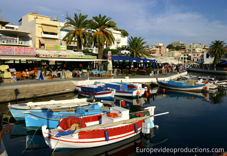 Agios Nikolaos in Crete in Greece