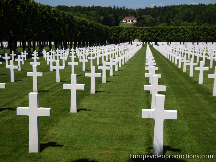 Meuse-Argonne American Cemetery and Memorial near Verdun in Lorraine in France
