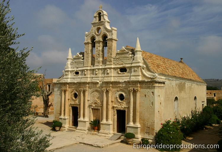 Arkadi Monastery in Crete in Greece
