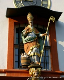 Statue of Nikolaus von Kues (Nicolaus Cusanus) in Bernkastel-Kues in Mosel in Germany