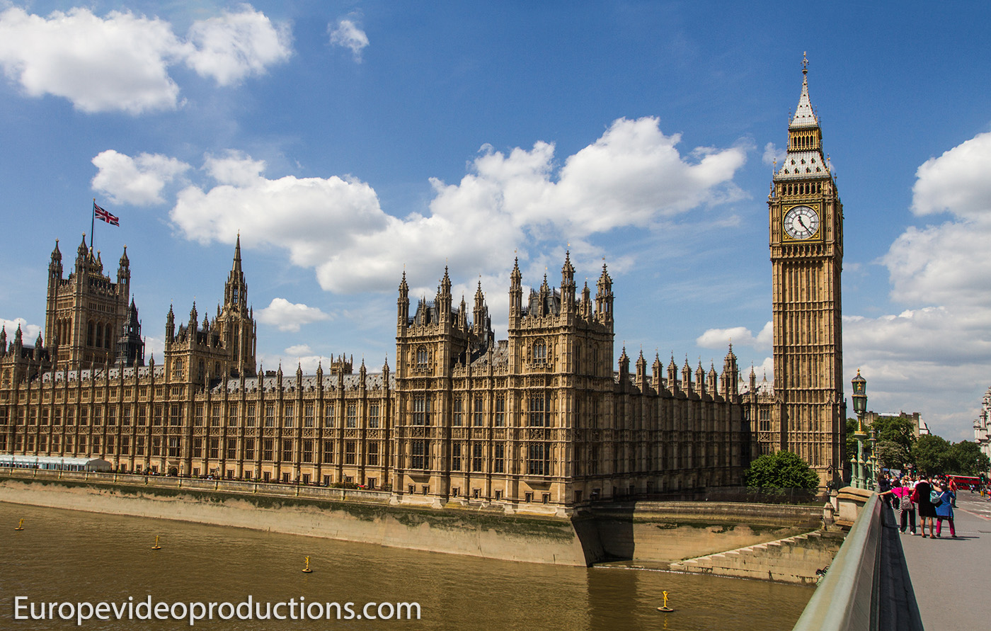 Big Ben and Houses of Parliament in London, capital of England