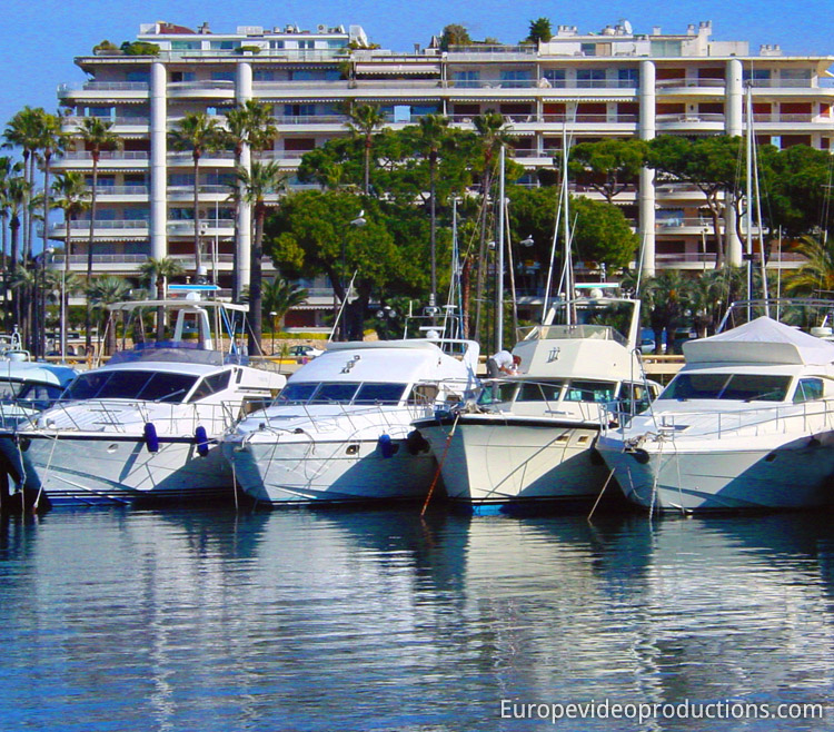 Boats in Cannes on the French Riviera