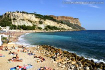 A beach in Cassis on the French Riviera