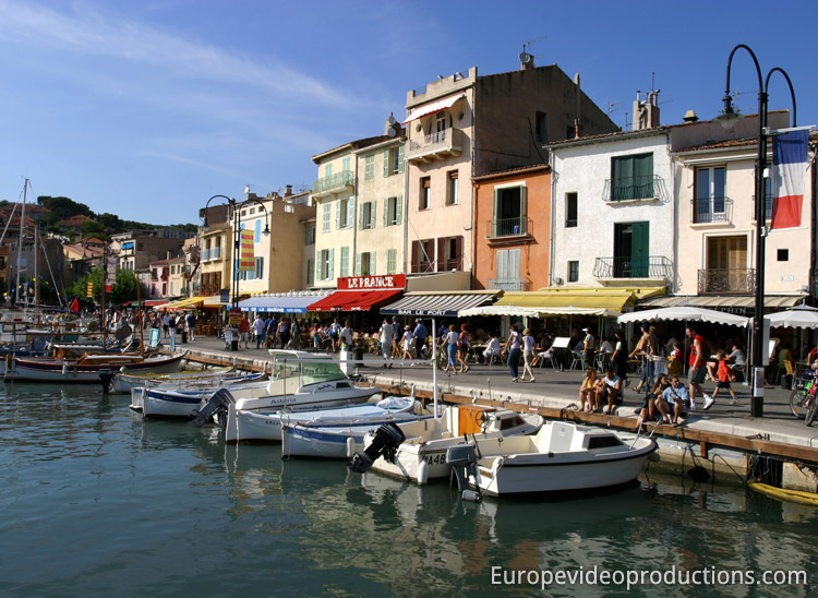 Harbour of the Town of Cassis on the French Riviera