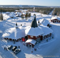 Christmas House in Santa Claus Village in Rovaniemi in Finnish Lapland