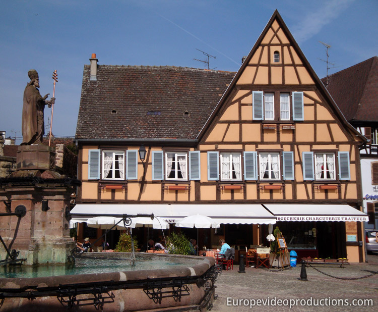 Eguisheim in Alsace Wine road in France