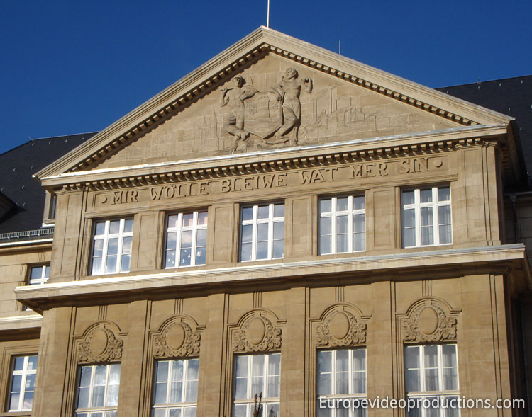 Town hall of Esch-sur-Alzette in Grand Duchy of Luxembourg