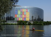 European Parliament building in Strasbourg in Alsace, France