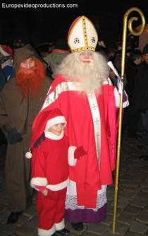 Saint Nicholas in St. Nicholas celebrations in early December in Metz in the Lorraine region in France