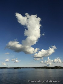 Clouds above the Finnish archipelago