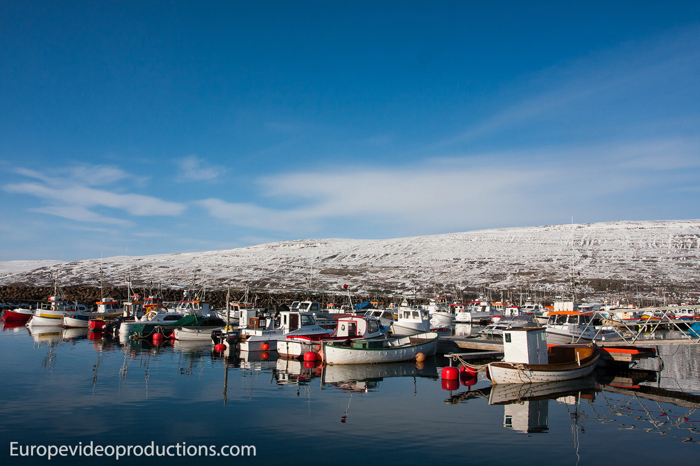 Fishing boats in Akureyri in North Iceland