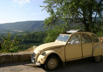Old French car in Provence in France