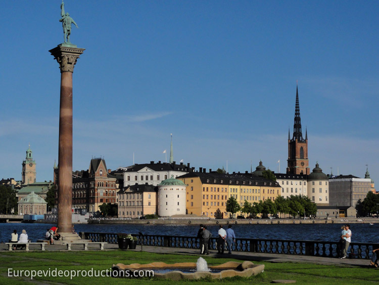 View from the Stockholm town hall: Old Town of Stockholm – Gamla Stan in Capital of Sweden