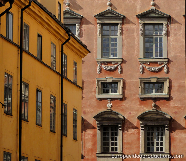 Gamla Stan the Old Town of Stockholm in Sweden