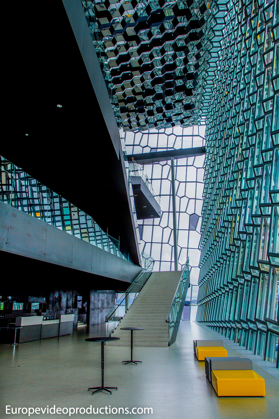Harpa Concert Hall in Reykjavik, capital of Iceland