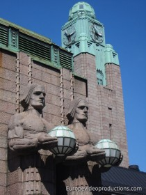 Helsinki Central Railway station in Finland