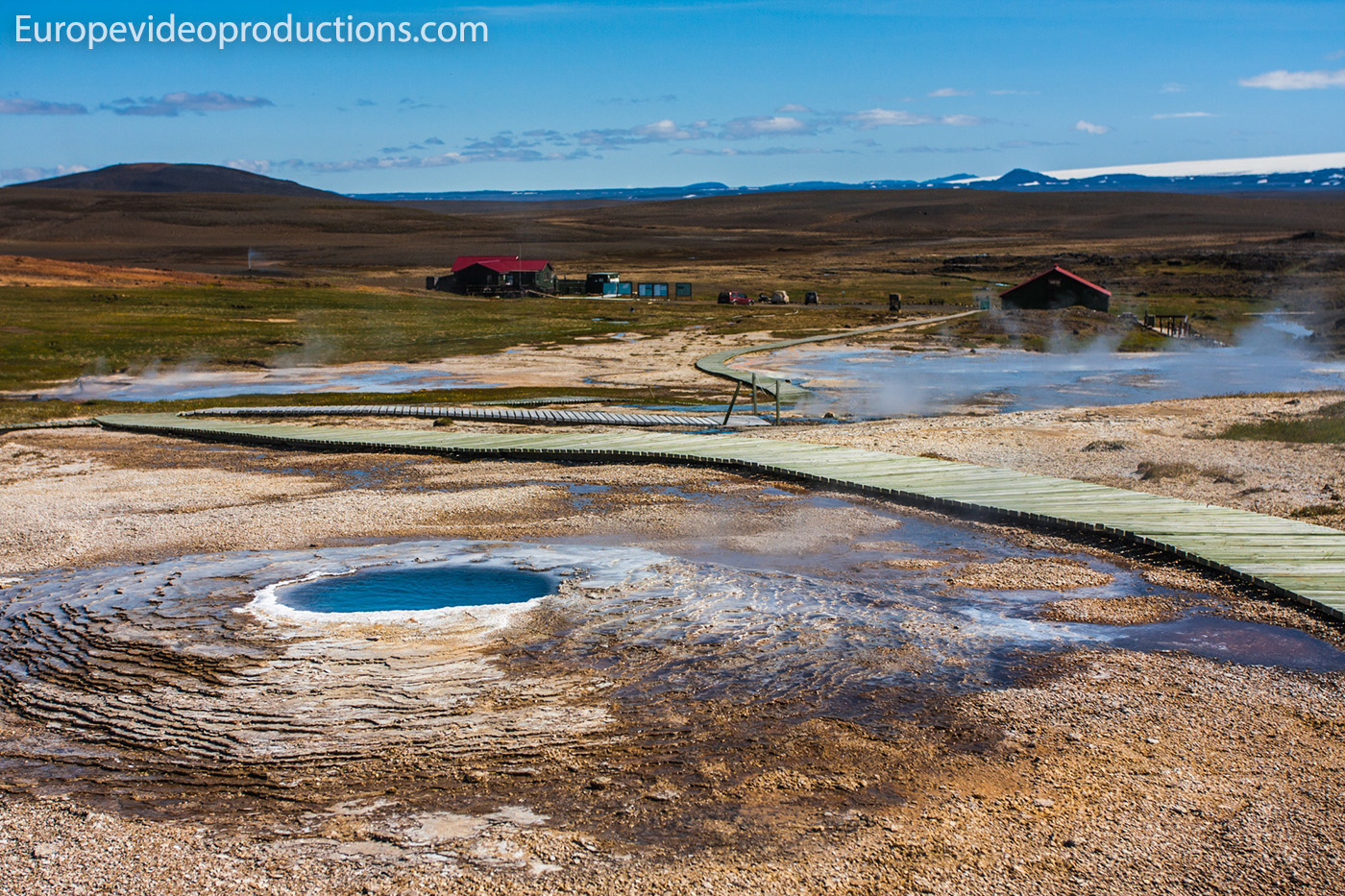 Hveravellir geothermal area and nature reserve in the highlands of Iceland
