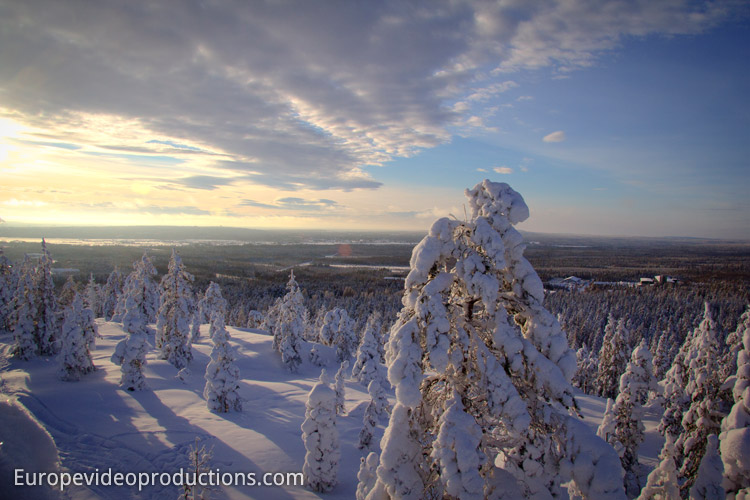 Winter in Rovaniemi in Lapland, Finland