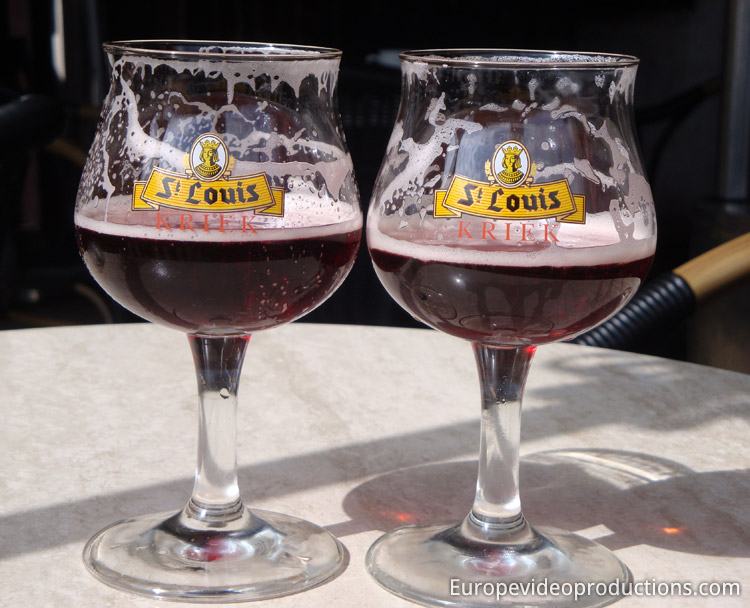 "Kriek lambic ""cherry beer"" in Belgium"