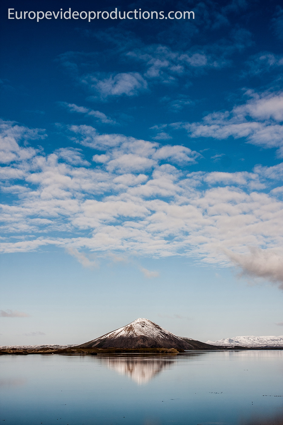 Lake Mývatn and Vindbelgur Mountain in Iceland