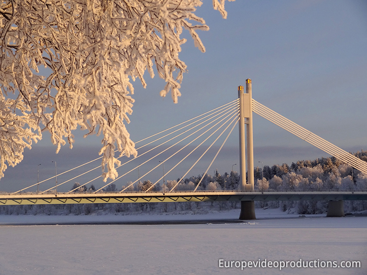 Lumberjack's Candle Bridge in Rovaniemi in Lapland