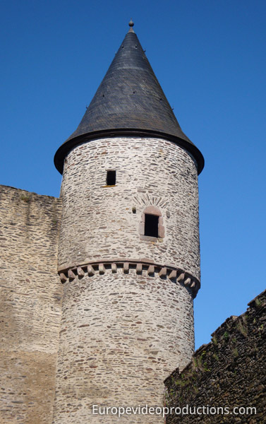 Tower of the Castle of Bourscheid in Luxembourg