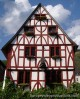 Wooden house in the village of Merl in German Mosel