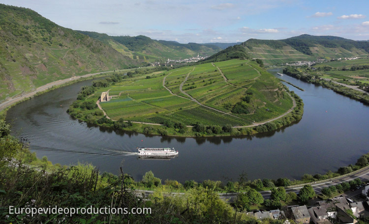 Mont Calmont in Moselle Valley in Germany