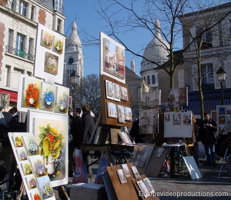 Photo: Montmartre In Paris In France
