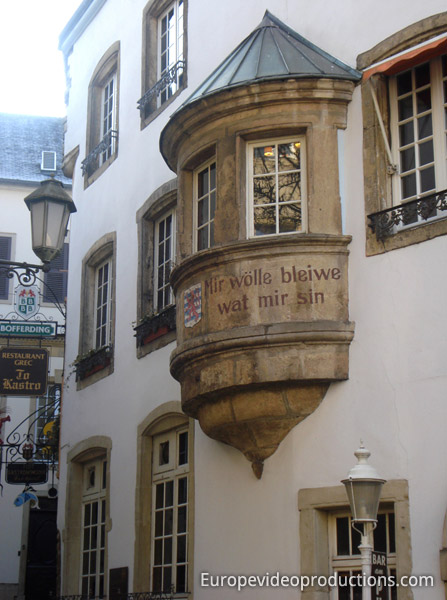 National Motto of Luxembourg in Luxembourg City