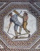 Roman Mosaic in Nennig in Upper Moselle Valley in Germany