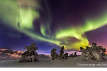 Northern lights in Levi, the leading ski resort of Lapland in Finland