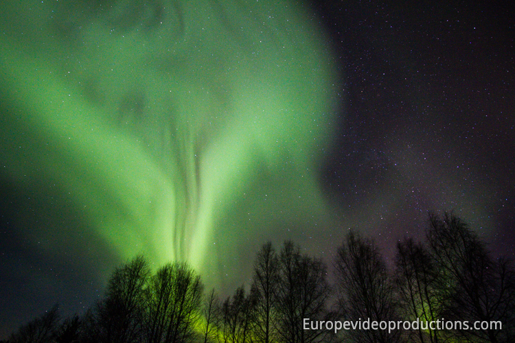 Northern lights in Swedish Lapland