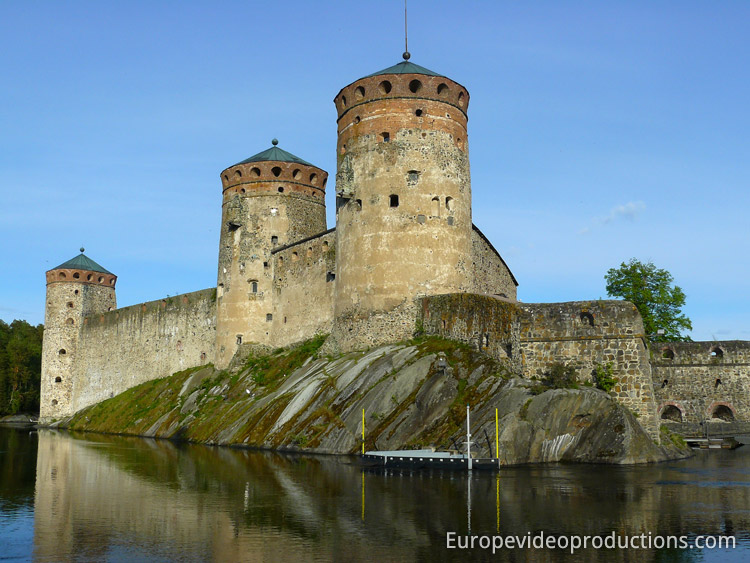 Castle of Olavinlinna in Savonlinna in eastern Finland
