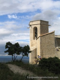 Church of Oppède-le-vieux in Provence in France