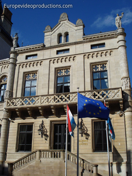 Parliament building of the Grand-Duchy of Luxembourg