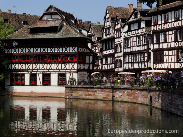"Houses in Petite France (""Little France"") area in Strasbourg in France"