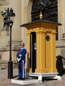 Royal Guard of Royal Palace in Stockholm, Sweden