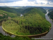 Saar River and Saar Loop in Mosel in Germany