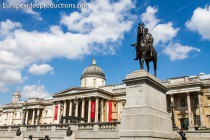 National Gallery auf Trafalgar Square in London, England