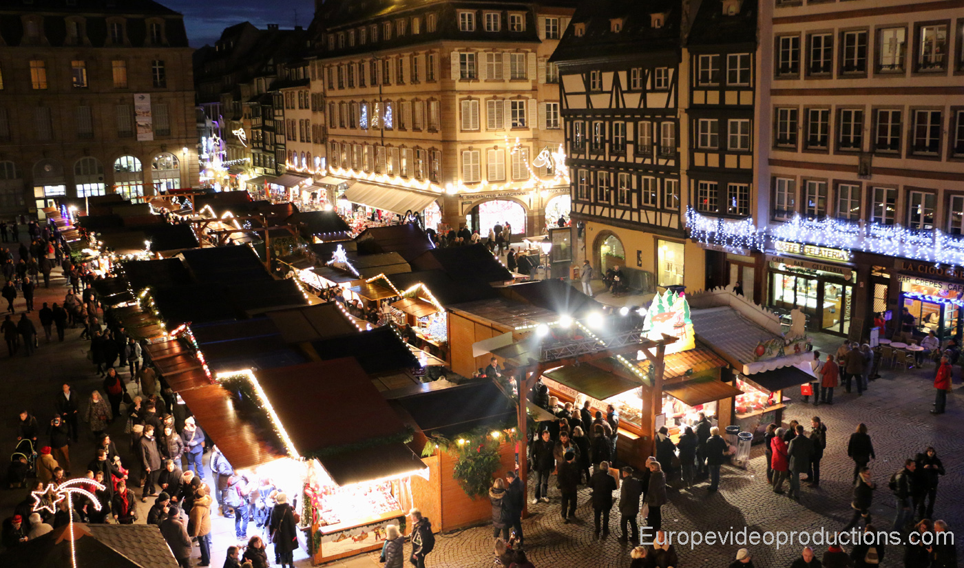 Christmas Market of Strasbourg in Alsace in France