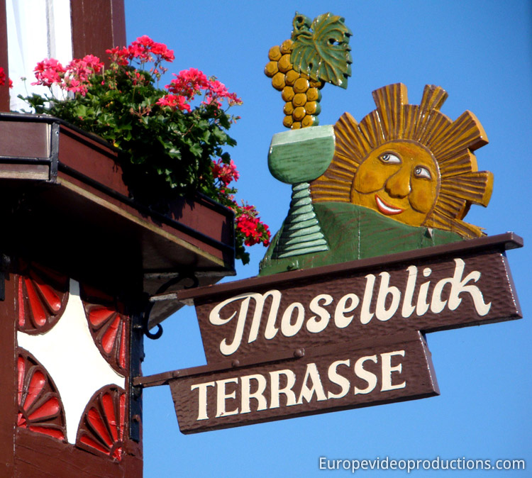 Sunshine in the beautiful Moselle Valley in Germany