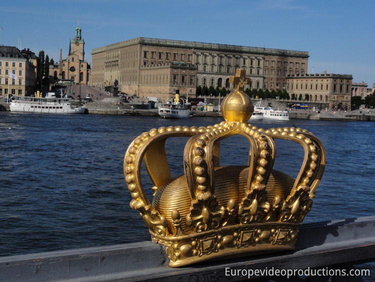 Royal Palace in Stockholm in Sweden
