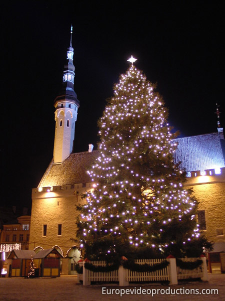 Christmas market of Tallinn in Estonia