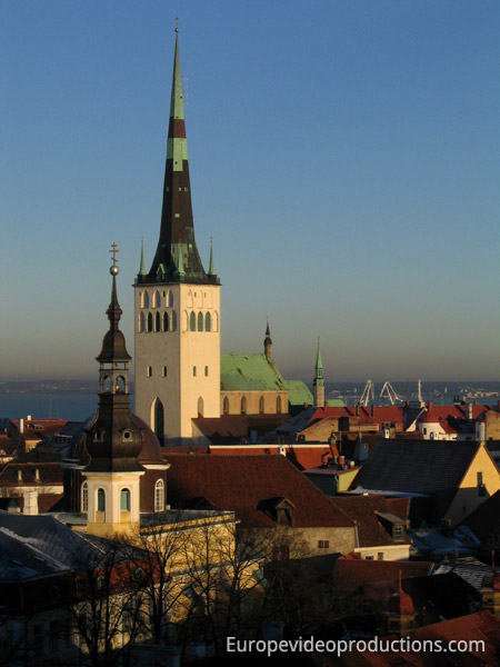 Old town of  Tallinn in Estonia