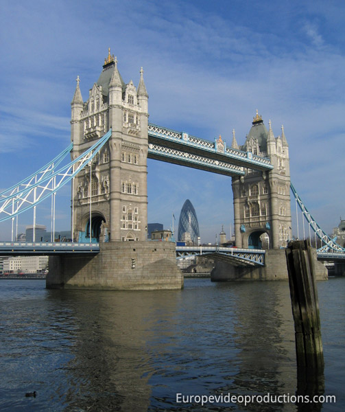 Tower Bridge in London in England