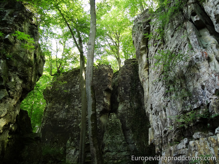 "Trails in Mullerthal in the ""Little Switzerland of Luxembourg"""